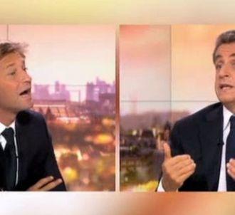 Nicolas Sarkozy face à Laurent Delahousse.