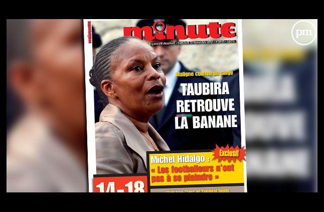 """La Une de l'hebdomadaire """"Minute"""", daté du 12 novembre 2013."""