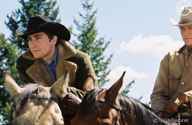 "Jake Gyllenhaal et Heath Ledger dans ""Le Secret de Brokeback Moutain"""