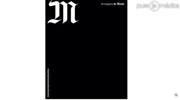 """La Une en deuil de """"M"""", le magazine du Monde."""