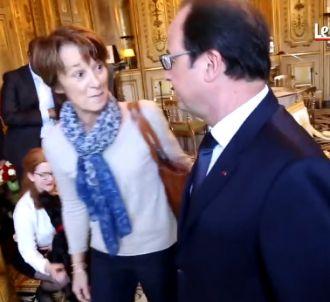 François Hollande et les lecteurs, 'Le Parisien'.