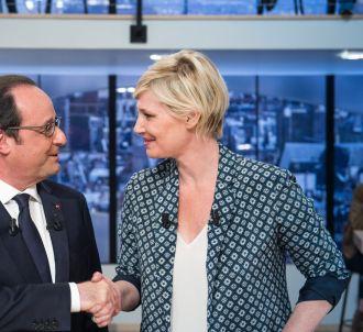 Maïtena Biraben et François Hollande, le 19 avril 2015.