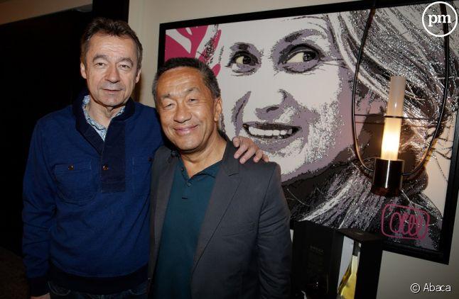 Renaud Le Van Kim avec Michel Denisot en 2014