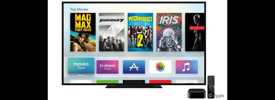 La nouvelle Apple TV (2015).