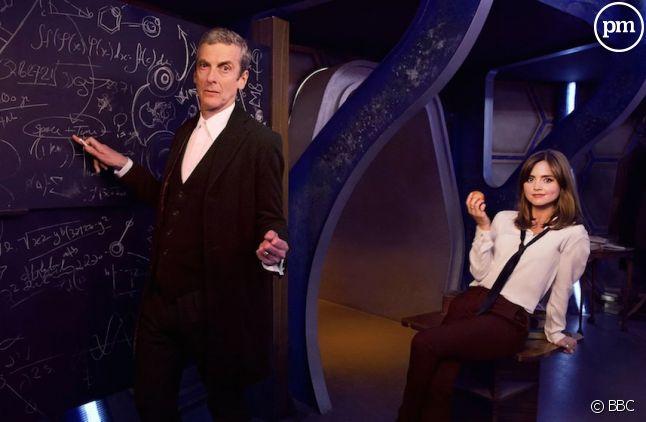 "Peter Capaldi et Jenna Coleman dans ""Doctor Who"""