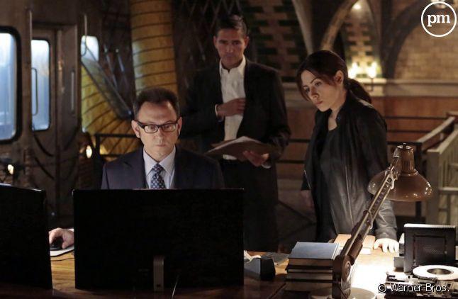 """<p>Jim Caviezel, Kevin Chapman et Sarah Shahi dans """"Person of Interest""""</p> <p></p>"""
