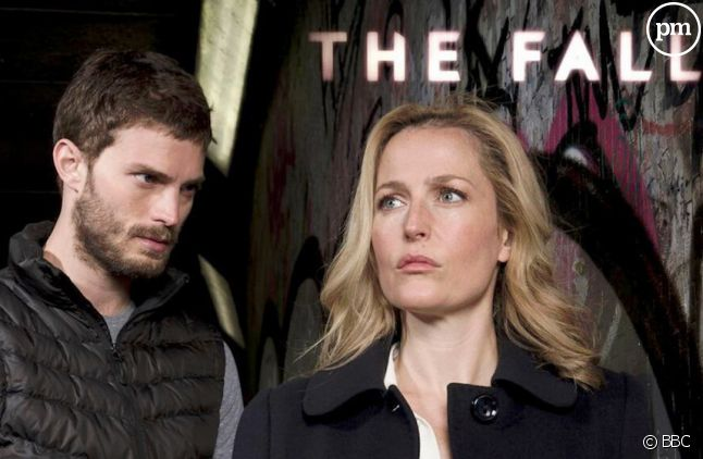 "Gillian Anderson et Jamie Dornan dans ""The fall"""