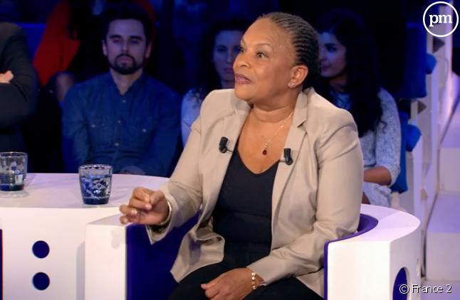 "Christiane Taubira hier soir dans ""ONPC"" (Capture)"