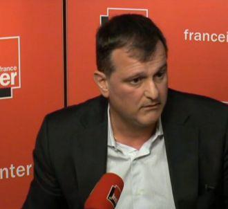 Louis Aliot au micro de France Inter