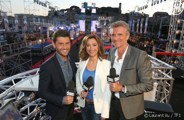 Denis Brogniart, Sandrine Quetier et Christophe Beaugrand