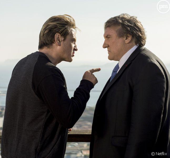 """Benoît Magimel et Gérard Depardieu dans """"Marseille""""."""