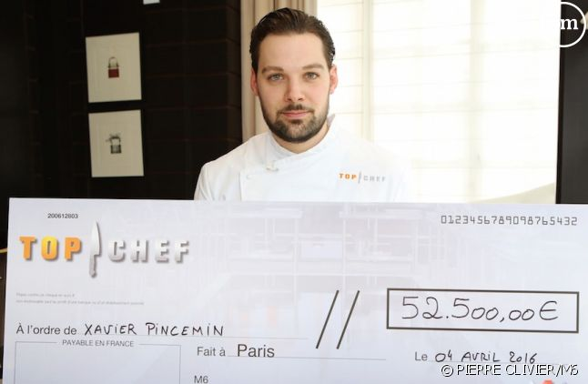 "Xavier Pincemin, gagnant de ""Top Chef"" 2016"