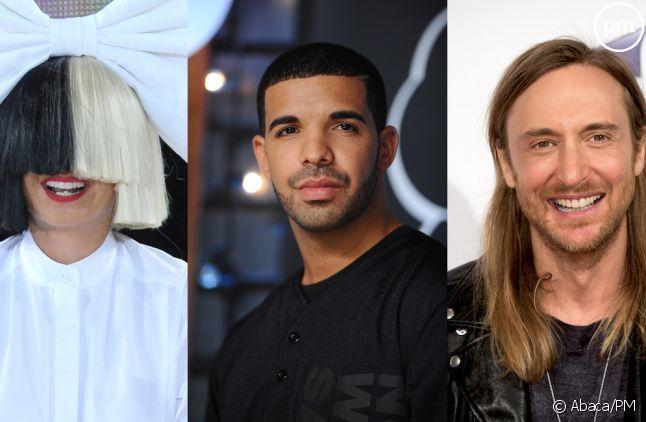 Sia, Drake et David Guetta