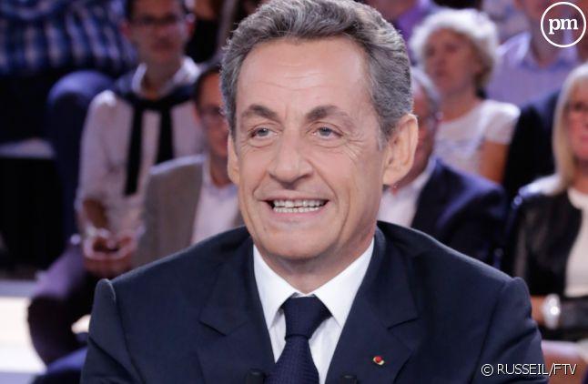 """Nicolas Sarkozy, sur le plateau de """"L'émission politique""""."""