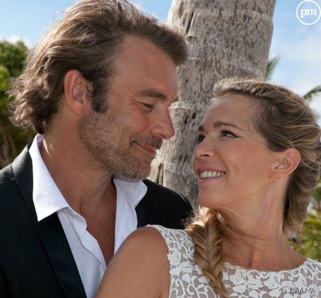 """Hélène Rollès et Patrick Puydebat dans """"Les Mystères de l'amour"""""""