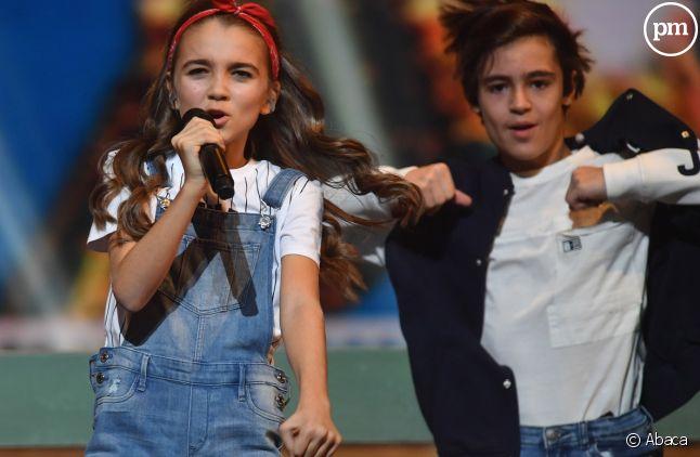 Angelina sur la scène de l'Eurovision Junior