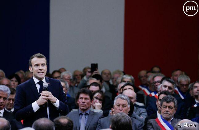 Emmanuel Macron à Souillac le 18 janvier 2019