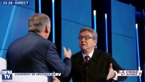 Débat de BFMTV : Vif échange entre Jean-Luc Mélenchon et François Bayrou