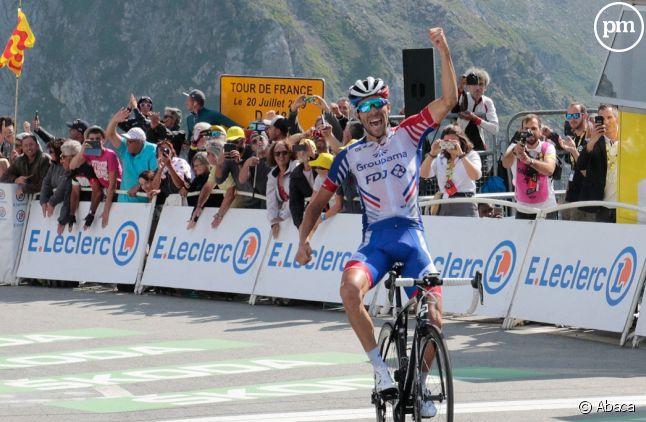 Thibaut Pinot, le grand vainqueur de l'étape d'hier du Tour de France