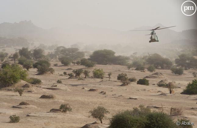 Un hélicoptère de l'armée française au Mali en 2013