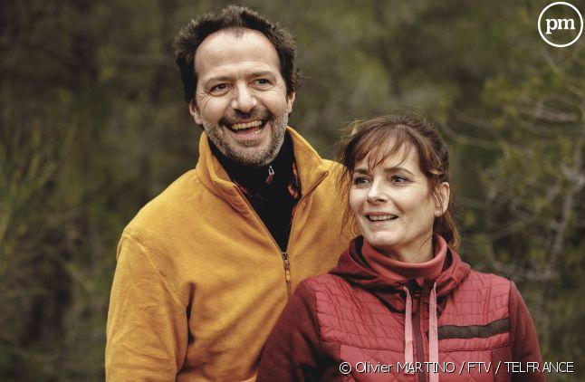 """Jean-Charles Chagachbanian et Cecilia Hornus dans """"Plus belle la vie"""""""