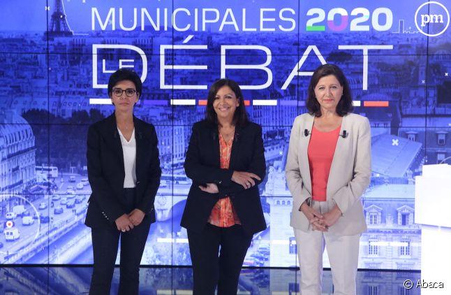"""Rachida Dati, Anne Hidalgo et Agnès Buzyn sur le plateau de """"Municipales 2020 : le débat"""""""