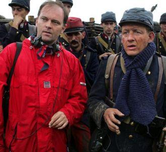 Christian Carion et Dany Boon sur le tournage de 'Joyeux...