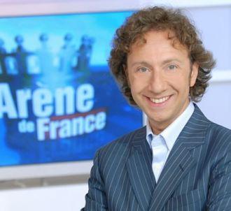 Stéphane Bern sur le plateau de 'L'Arène de France'