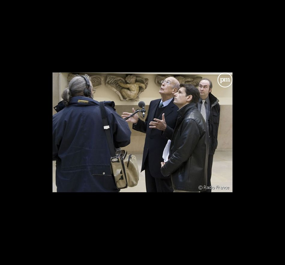 Valéry Giscard d'Estaing et Vincent Josse au Musée d'Orsay pour France Inter