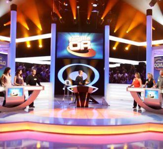Le plateau de l'émission 'Une famille en or' diffusée sur...