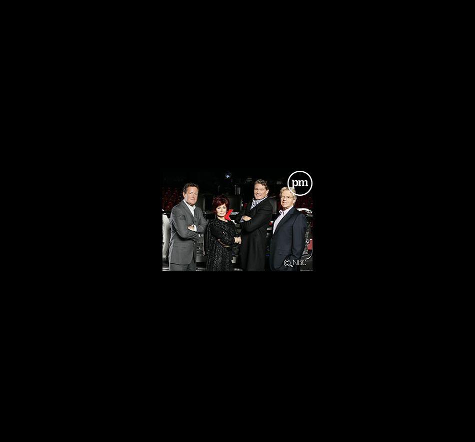 Piers Morgan, Sharon Osbourne, David Hasselhoff et Jerry Springer dans America's Got Talent