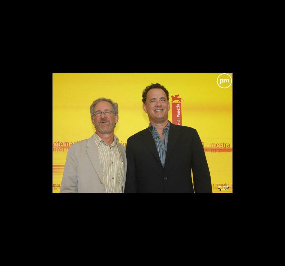 Steven Spielberg et Tom Hanks à Venise