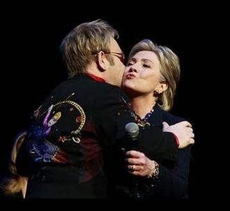 Elton John et Hillary Clinton