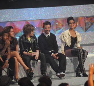 Christophe Maé et Rihanna sur le plateau de la Star...