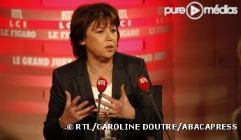 Martine Aubry, le 17 janvier 2010 sur RTL