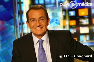 Jean-Pierre Pernaut sur le plateau des JT de TF1