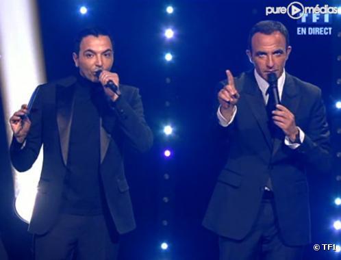 Kamel Ouali et Nikos Aliagas lors des NRJ Music Awards 2010