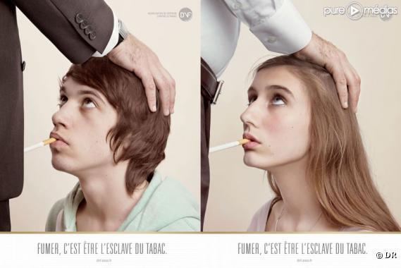 photo nouvelle campagne choc et provoc contre le tabac puremedias. Black Bedroom Furniture Sets. Home Design Ideas