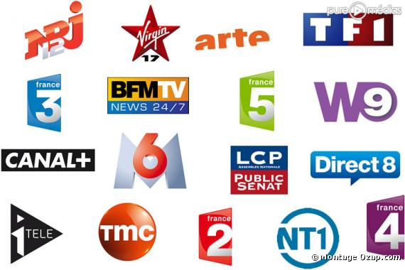 Les 18 chaînes de la TNT gratuite.
