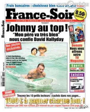 La Une du France Soir datée du 19 mars 2010