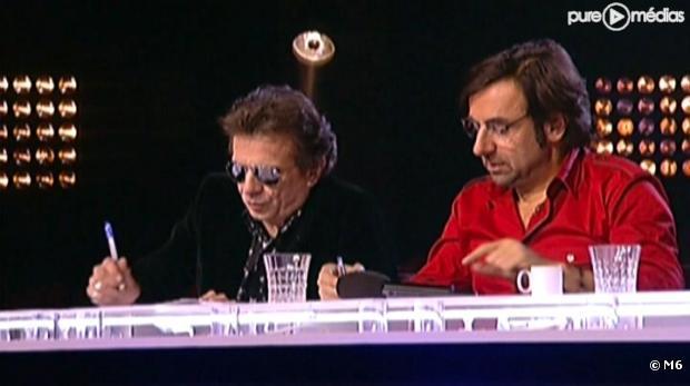 """Philippe Manoeuvre et André Manoukian lors des auditions de """"Nouvelle Star"""""""