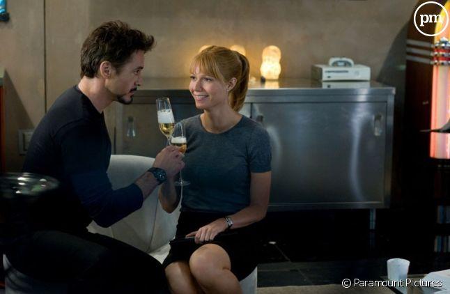 "Robert Downey, Jr. et Gwyneth Paltrow dans ""Iron Man 2"""