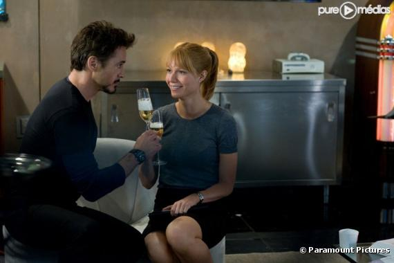 "Robert Downey, Jr. et Gwyneth Paltrow dans ""Iron Man 2"""