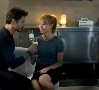 Robert Downey, Jr. et Gwyneth Paltrow dans 'Iron Man 2'