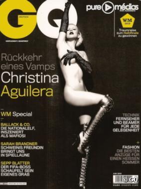 Christina Aguilera nue en couverture de GQ