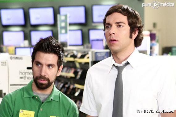 "Joshua Gomez et Zachary Levi dans ""Chuck"""