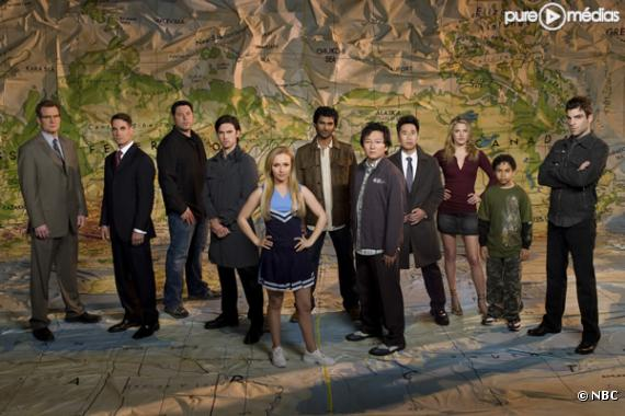 """Le cast de la série """"Heroes""""."""
