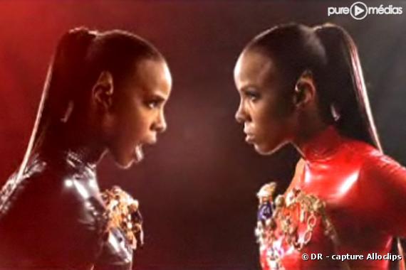 "Kelly Rowland dans le clip de ""Commander"""