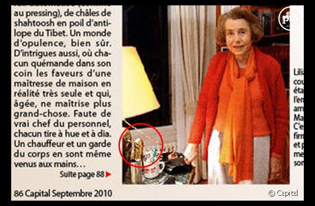 """Liliane Bettencourt pose dans """"Capital"""", septembre 2010"""