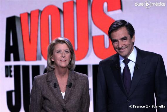 Arlette Chabot et François Fillon, le 9 septembre 2010 sur France 2